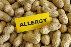 Allergia dell'arachide Fotografia Stock