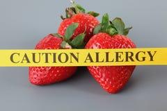 Allergia della fragola Fotografia Stock