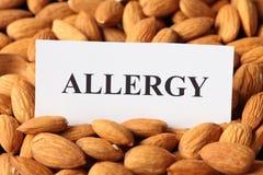 Allergia della mandorla Immagine Stock Libera da Diritti