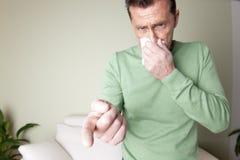 Allergia della polvere Fotografia Stock