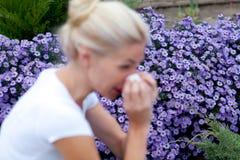 Allergia di stagione Fotografie Stock Libere da Diritti