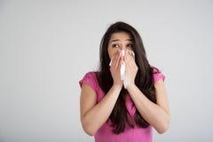 Allergia, freddo, influenza Fotografia Stock Libera da Diritti
