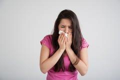 Allergia, freddo, influenza Fotografie Stock
