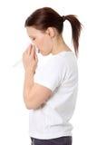 Allergia o freddo di sollevamento Immagine Stock Libera da Diritti