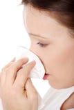 Allergia o freddo di sollevamento Immagini Stock