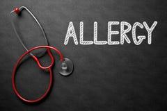 Allergia scritta a mano sulla lavagna illustrazione 3D Immagini Stock Libere da Diritti