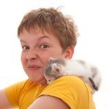 Allergia sugli animali domestici Immagine Stock Libera da Diritti