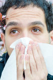 Allergic reactions to spring flowers Stock Photography
