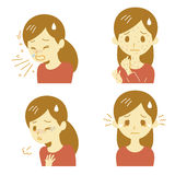 Allergic reactions, woman Stock Image
