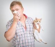 Allergico agli animali Fotografie Stock Libere da Diritti
