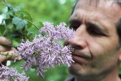 Allergico ai fiori Fotografie Stock