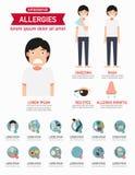 Allergieëninfographics Vector Stock Afbeelding