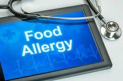 Allergie alimentaire Images libres de droits