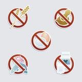 Allergie alimentari Fotografie Stock Libere da Diritti