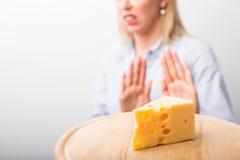 Allergie del formaggio Fotografia Stock