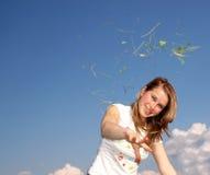 Allergie della donna Fotografia Stock