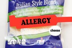Allergie des Käses Lizenzfreie Stockfotografie