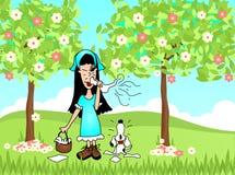 Allergie di starnuto della primavera Immagine Stock