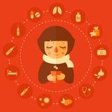 Allergie en koude royalty-vrije illustratie
