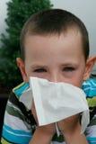 Allergie und Bindehautentzündung oder Grippe Stockbild