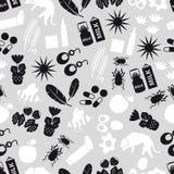 Allergie und graues nahtloses Muster der Allergene Lizenzfreies Stockfoto