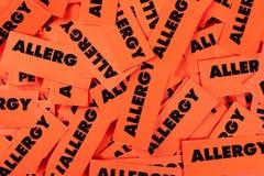 Allergieetiketten Royalty-vrije Stock Afbeeldingen