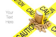 Allergies d'arachides Photographie stock libre de droits