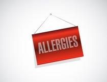 Allergies hanging sign illustration design Royalty Free Stock Photo