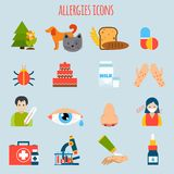 Allergies Icon Set Stock Image