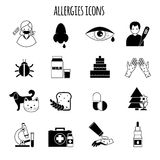 Allergies Icons Black Stock Photography