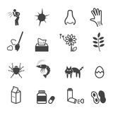 Allergies icons Stock Images
