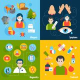 Allergies Icons Set Stock Photos