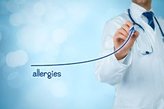 Allergies increasing Royalty Free Stock Photography
