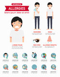 Allergies infographics.vector Stock Image