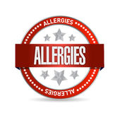 Allergies seal illustration design Stock Photo