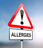 Allergies warning. Royalty Free Stock Photography