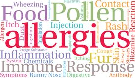 Allergies Word Cloud Stock Photography
