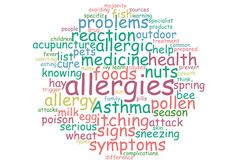 Allergies word cloud Stock Photos