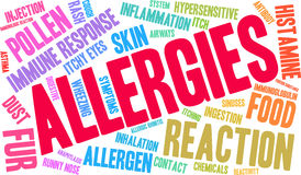Allergies Word Cloud Stock Images