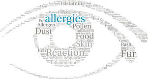 Allergies Word Cloud Royalty Free Stock Images