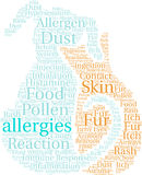 Allergies Word Cloud Royalty Free Stock Photography