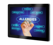 ALLERGIES Stock Image