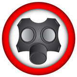 allergimaskering Arkivfoto