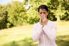 Allergische Reactie stock afbeelding
