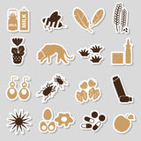 Allergy and allergens color stickers set Royalty Free Stock Photos