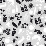 Allergy and allergens gray seamless pattern. Eps10 Royalty Free Stock Photo