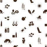 Allergy and allergens icons seamless pattern Stock Image