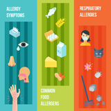 Allergy Banner Set Royalty Free Stock Photography