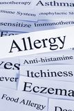 Allergy Concept and Examples. Allergy Concept - a conceptual look at allergies, some of their problems and treatments stock images