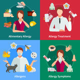 Allergy Concept Icons Set. Allergy And Treatment Concept. Allergy Vector Illustration. Allergy Flat Icons Set. Allergy Design Set. Allergy  Elements Stock Photo